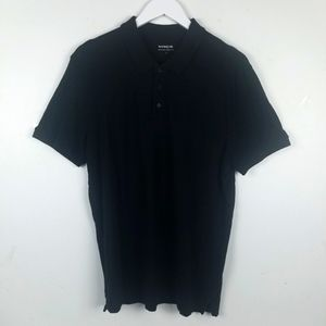 Vince Polo in Black Size Large 100% Cotton